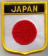 Japan Embroidered Flag Patch, style 07.